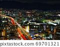 俯瞰東大阪的夜景 69701321