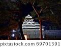 長野縣松本市松本城的夜景 69701391