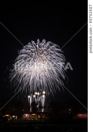 [茨城縣]土浦的煙花。土浦全國煙花節。 69702687