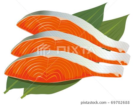 Salmon fillet 69702688