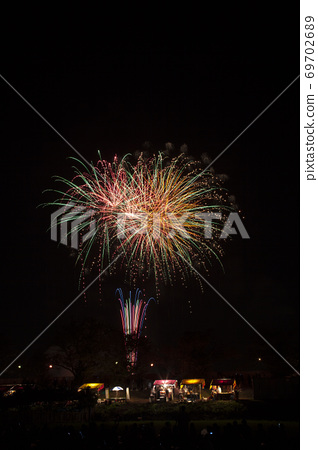 [茨城縣]土浦的煙花。土浦全國煙花節。 69702689
