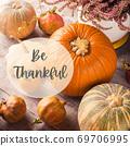 Autumn thanksgiving still life with pumpkins 69706995