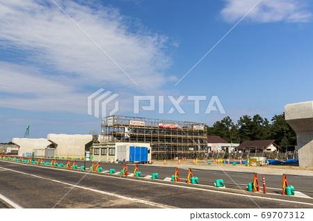 Construction work_pier work 69707312