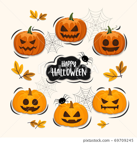 Halloween concept vector illustration 69709245