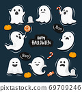 Halloween concept vector illustration 69709246