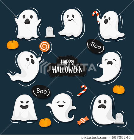 Halloween concept vector illustration 69709246