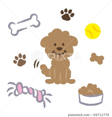 玩具獅子狗插圖 69712776