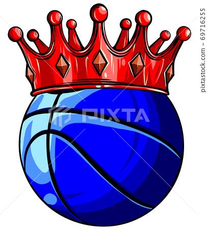 Basketball ball. vector illustration isolated on white background. 69716255
