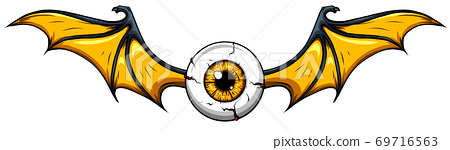 Creepy eye ball , vector illustration design art 69716563