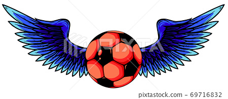vector football with wings isolated on white 69716832