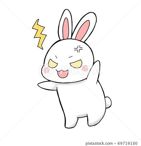 憤怒的白兔子 69719180