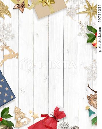 聖誕背景素材-有多種變體 69733056