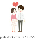 Illustration of a lovely newlywed life 69736055