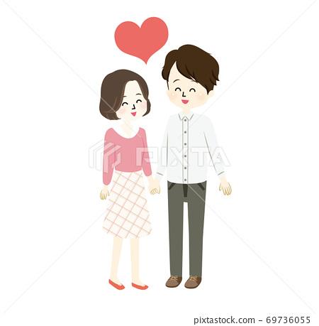 러브 러브 한 신혼 생활의 일러스트 69736055