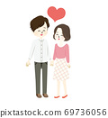 Illustration of a good couple 69736056