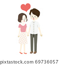 Illustration of a good couple 69736057