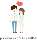 Illustration of men and women who have an affair 69736058