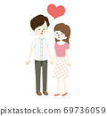 Illustration of a good couple 69736059