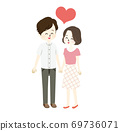 Illustration of a lovely couple 69736071