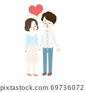 Illustration of a lovely couple 69736072