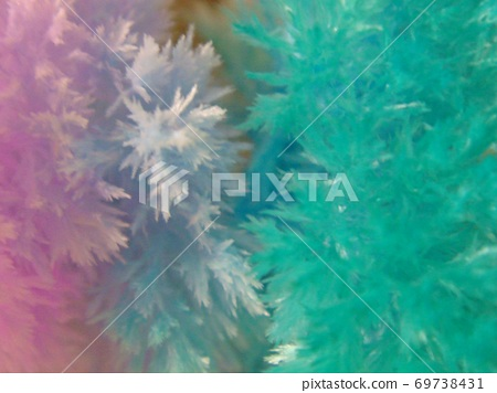 Turquoise and pink crystals 69738431