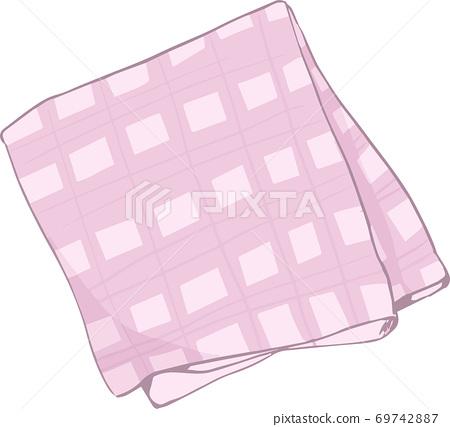 Illustration of a simple handkerchief 69742887