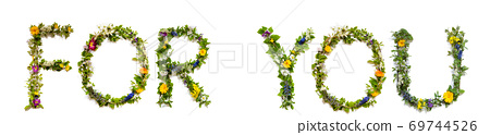 Flower And Blossom Letter Building Word For You 69744526
