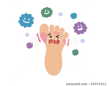 臭蟲的腳的可愛觸摸的插圖 69747822
