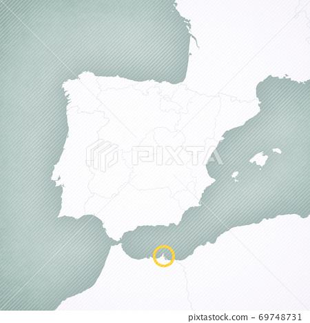 Map of Iberian Peninsula - Melilla 69748731
