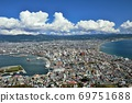 Scenery of Hakodate city from Mt. Hakodate (daytime) 69751688