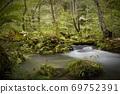 오이 라세 계류 햇살 속의 계류 세 난류의 흐름 69752391
