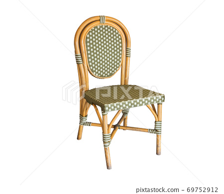 colorful wicker chair,isolated on white background 69752912