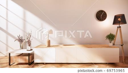 zen modern empty room,minimal design japanese style. 3d rendering 69753965