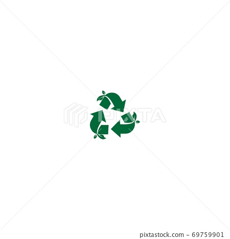 Recycling sign icon circle design 69759901