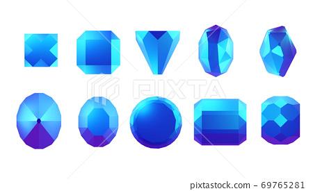 各種形狀寶石 69765281