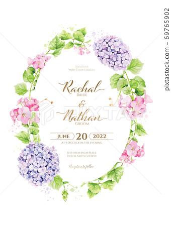 wedding invitation card 청첩장. 69765902
