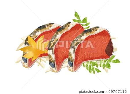 看起來新鮮又美味的鰻魚t的插圖 69767116