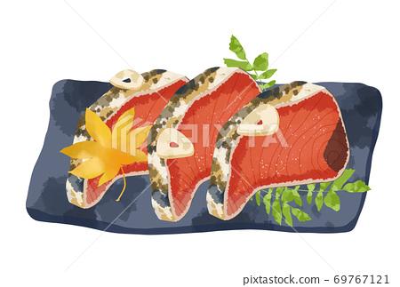 看起來新鮮又美味的鰻魚t的插圖 69767121