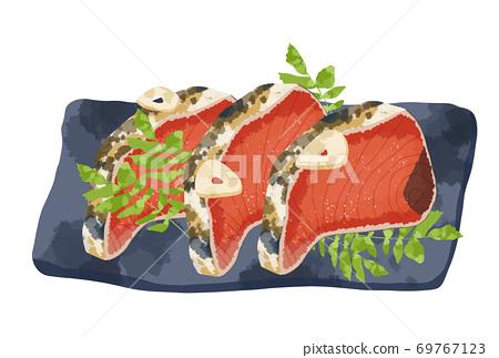 看起來新鮮又美味的鰻魚t的插圖 69767123