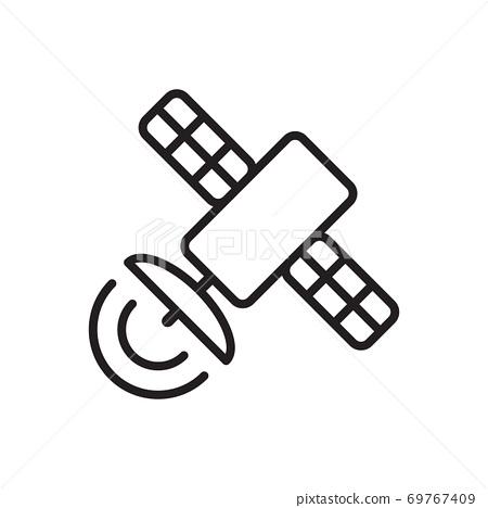 Satellite icon vector for graphic design, logo, web site, social media, mobile app, ui illustration 69767409