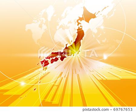 商業背景日本地圖世界地圖商業形象全球 69767653
