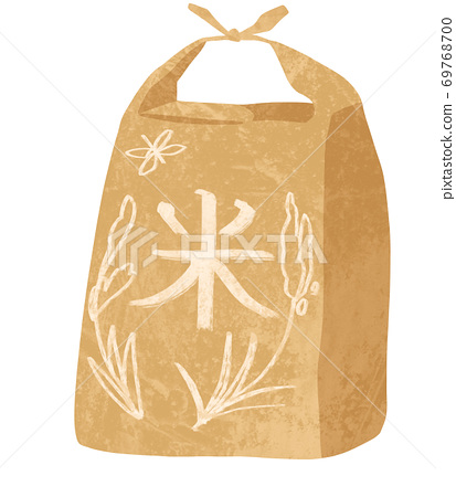 Illustration of rice in a bag 69768700