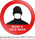 Wear a face mask sign 69772011