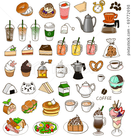 Cafe menu illustration 69772698