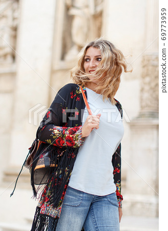 Bohemian fashion young women 69773959