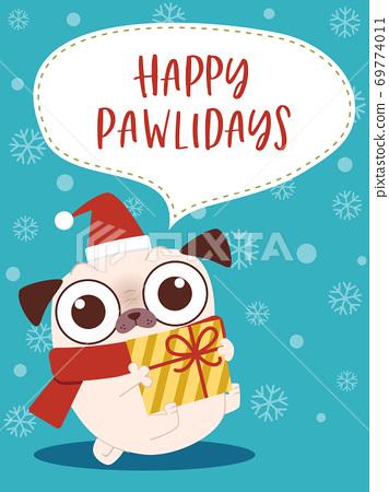 帕格人物聖誕賀卡設計 69774011