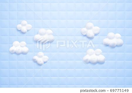 제품 배경 욕실 타일 구름 같은 꼼꼼한 세안 거품 69775149