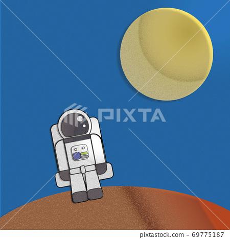 우주인과 달 69775187