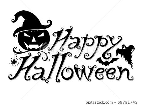 Halloween text banner 69781745