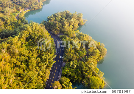 road with forest in Sun Moon Lake 69781997